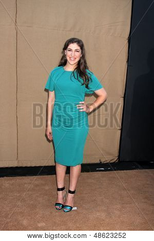 LOS ANGELES - JUL 29:  Mayim Bialik arrives at the 2013 CBS TCA Summer Party at the private location on July 29, 2013 in Beverly Hills, CA