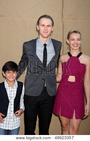 LOS ANGELES - JUL 29:  Blake Garrett Rosenthal, Spencer Daniels, Sadie Calvano arrives at the 2013 CBS TCA Summer Party at the private location on July 29, 2013 in Beverly Hills, CA
