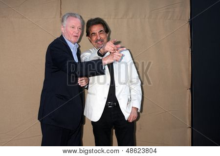 LOS ANGELES - JUL 29:  Jon Voight, Joe Mantegna arrives at the 2013 CBS TCA Summer Party at the private location on July 29, 2013 in Beverly Hills, CA
