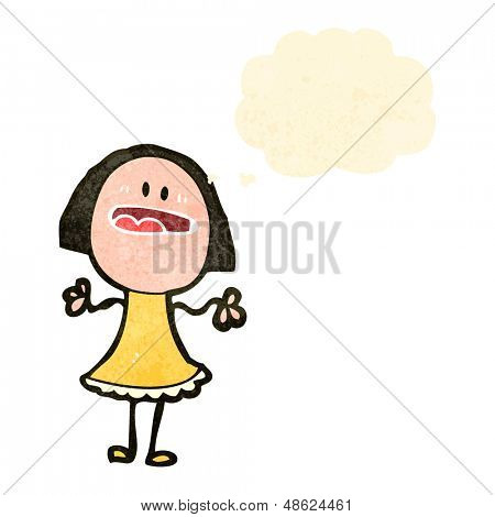 retro cartoon woman complaining