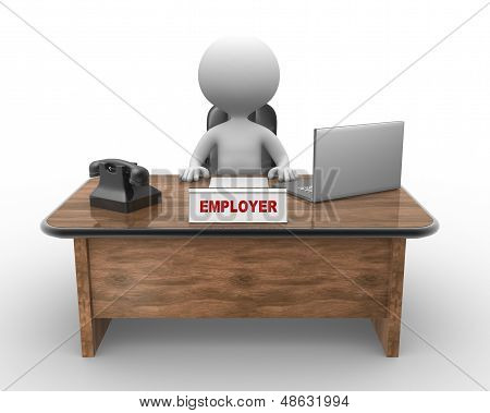 Laptop And Phone. Employer