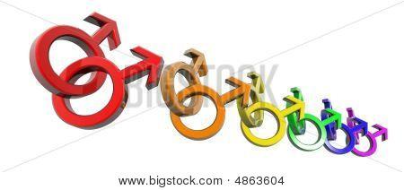 Man-man Symbols Rainbow