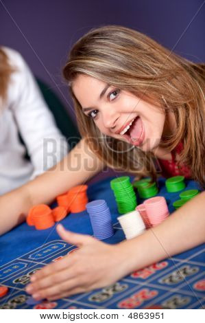 Woman In A Casino