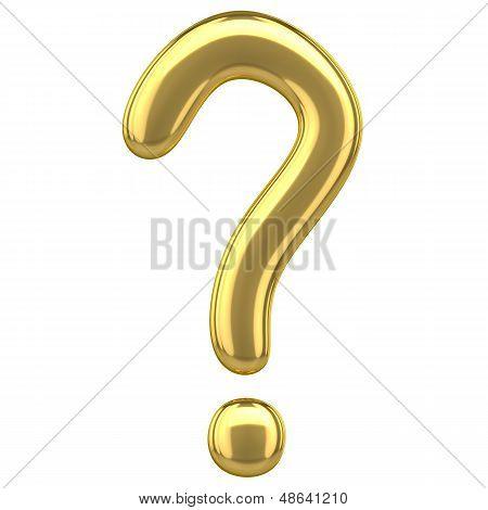 Golden Question Mark