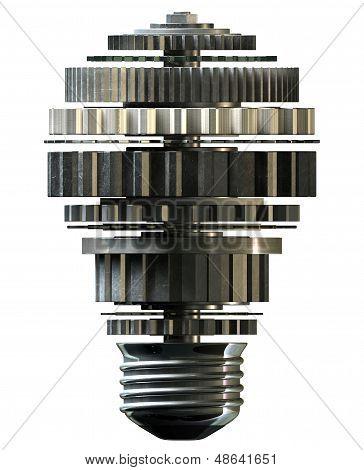 Cogwheel Lightbulb Shape Concept