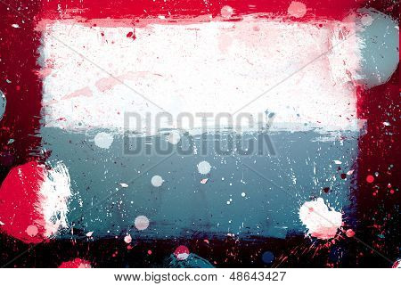 Grunge Banner With White Inky Splashes