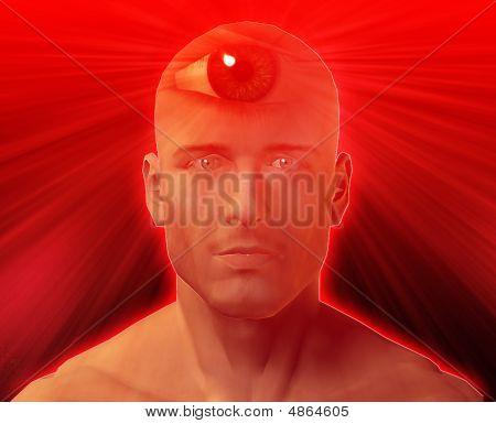 Drittes Auge-Mann