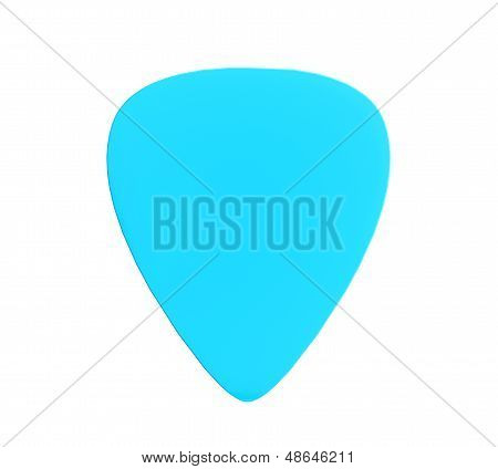 Blue Plastic Guitar Plectrum
