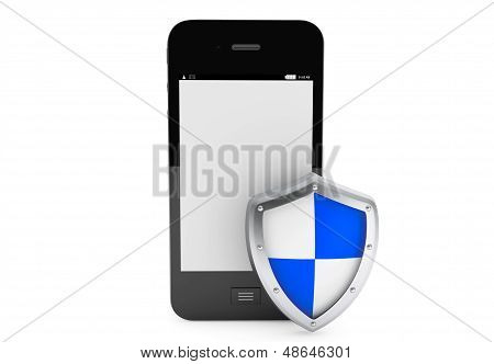 Mobile Phone With Protective Shield