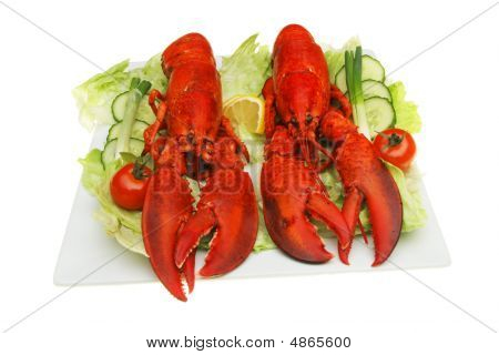 Lobsters And Salad
