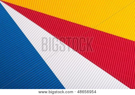 Blue,red, Yellow, White Corrugated