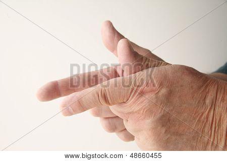 man using finger shooting gesture
