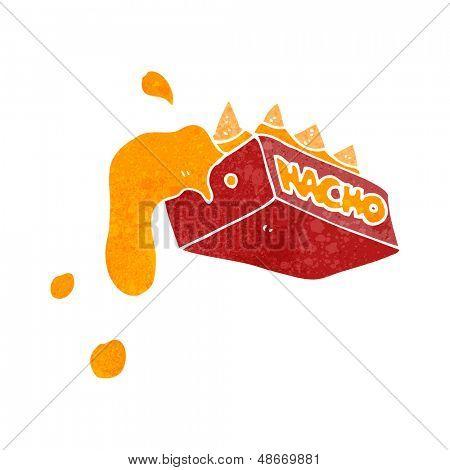 retro cartoon nachos and cheese