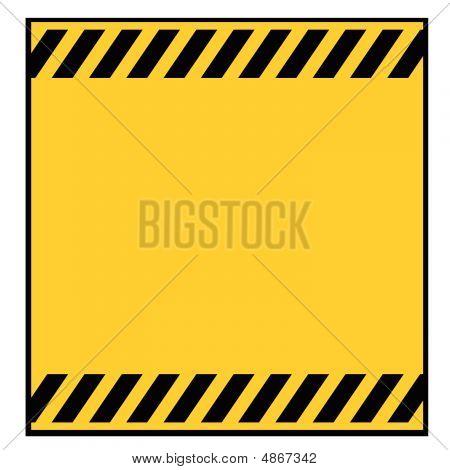 Blank Metallic Warning Sign