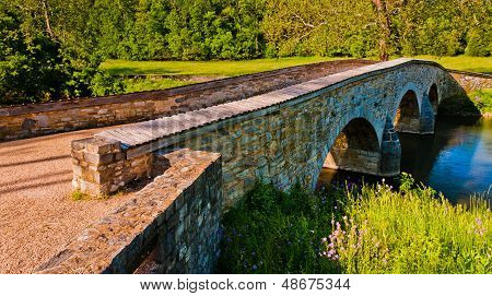 Burnside Bridge, In Antietam National Battlefield, Maryland.