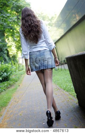 Woman Walking Outdoor