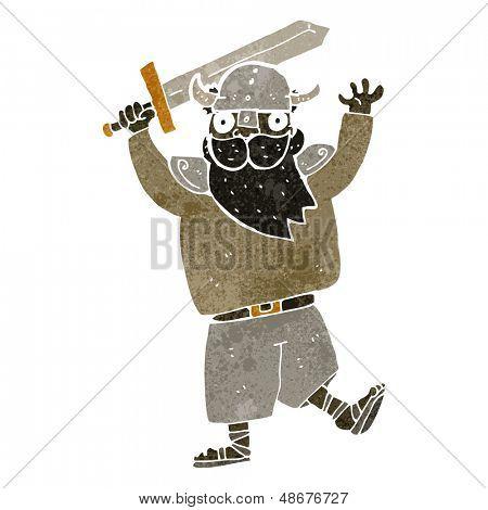 retro cartoon medieval raider