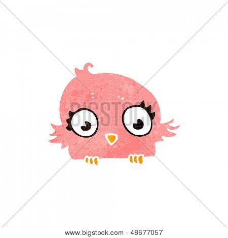retro cartoon little bird