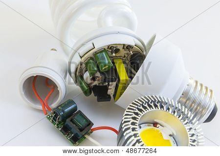 Detail Of Electronics Led Gu10 Versus Cfl E27