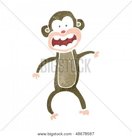 retro cartoon chimp