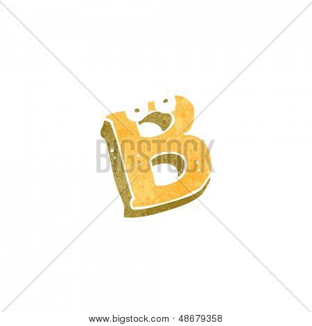 retro cartoon letter b