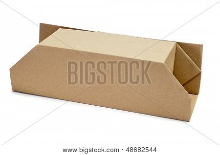 a cardboard box of on a white background