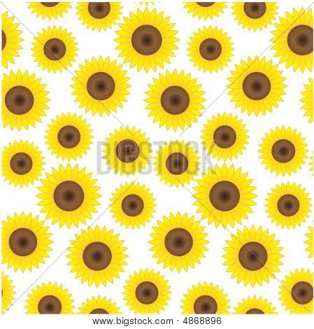 Seamless Sunflower Background
