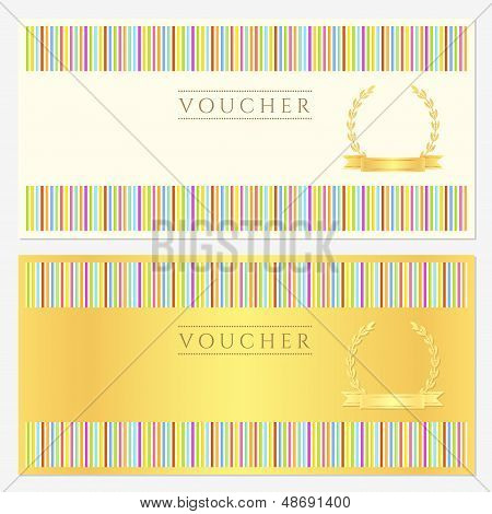 Certificate / Diploma template with line pattern