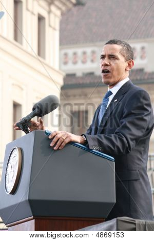 Rede von Barack Obama in Prag