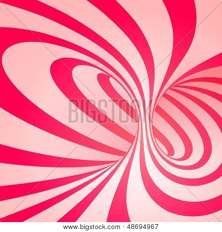 Candy cane sweet spiral abstract background