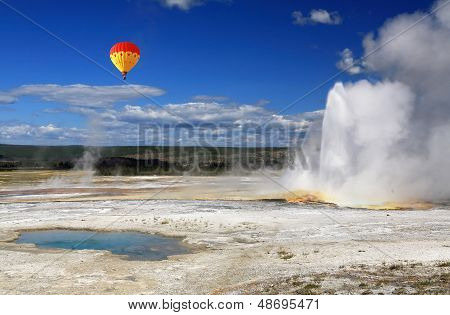 The Scenery Of Lower Geyser Basin In Yellowstone