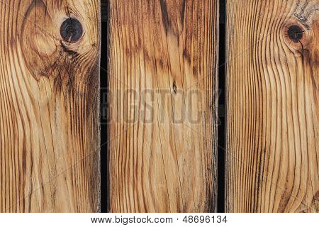 Old Pine Wood Fence Planks