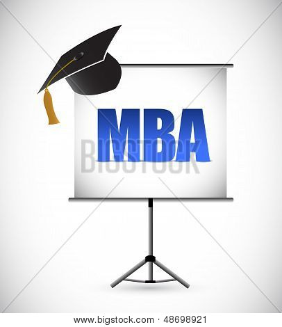Mba Education Graduation Presentation Board.