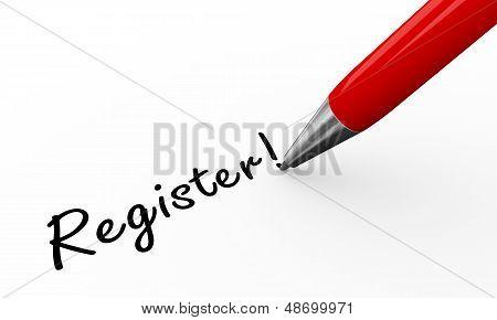 3D Pen Writing Register