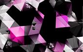 pic of triangular pyramids  - Polygons vector background - JPG