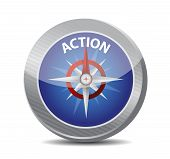 stock photo of higher power  - compass guide to action - JPG