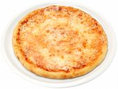 pic of oregano  - Pizza Margarita with cheese tomatoes olive oil and oregano isolated - JPG