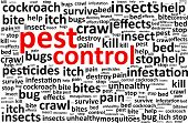 stock photo of parasite  - Pest Control Disease Word Cloud Vector Illustration - JPG