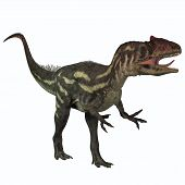 stock photo of vicious  - Allosaurus was a large theropod predatory dinosaur which lived in the late Jurassic period - JPG
