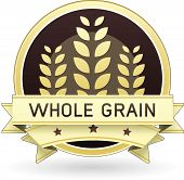 image of whole-wheat  - Whole Grain packaging label or stick in vector - JPG