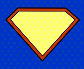 image of hero  - Super hero shield in pop art style - JPG