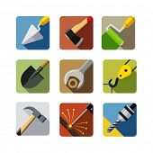 stock photo of trowel  - construction tools - JPG