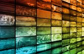 stock photo of mass media  - Technology Background as a Digital Abstract Art - JPG