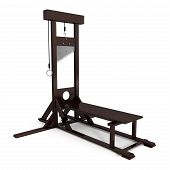 pic of beheaded  - Guillotine isoleted on white  - JPG