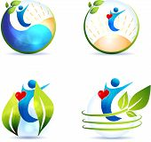 stock photo of atherosclerosis  - Healthy lifestyle symbol collection - JPG