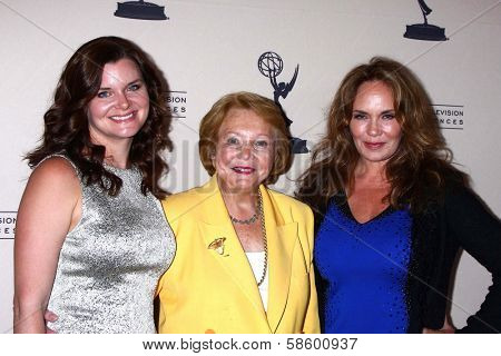 Heather Tom, Lee Phillip Bell and Catherine Bach at the Daytime Emmy Nominees Reception presented by ATAS, Montage Beverly Hills, CA 06-13-13