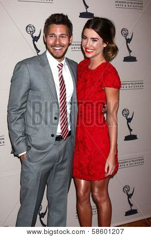 Scott Clifton and Jacqueline MacInnes Wood at the Daytime Emmy Nominees Reception presented by ATAS, Montage Beverly Hills, CA 06-13-13