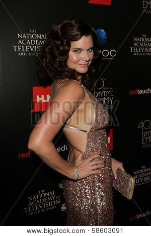 Heather Tom at the 40th Annual Daytime Emmy Awards, Beverly Hilton Hotel, Beverly Hills, CA 06-16-13