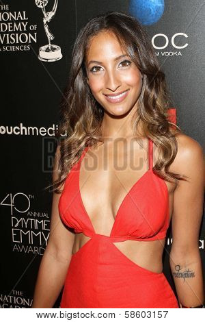 Christel Khalil at the 40th Annual Daytime Emmy Awards, Beverly Hilton Hotel, Beverly Hills, CA 06-16-13