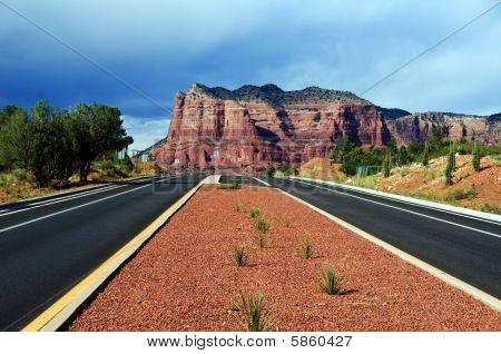 Landscape Of Cathedral Rock At Sedona Arizona
